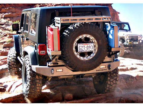 Jeep Jk Rear Cargo Rack Shrockworks Jeep Jk Swing Away Tire Carrier W Cargo Rack