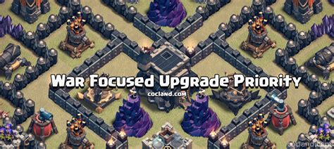 clash of clans upgrade order and priority guide clash of clans guide war focused upgrade priority