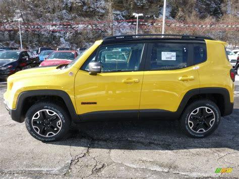 yellow jeep interior solar yellow 2016 jeep renegade trailhawk 4x4 exterior