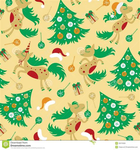 cute baby pattern stock vector image of horse collection seamless pattern cute horse for christmas stock vector