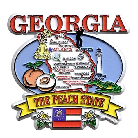 House Warming Gift Ideas The Peach State Souvenir Magnet From Georgia