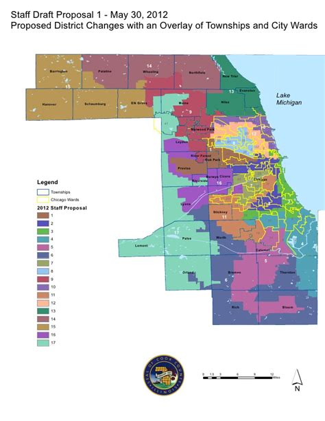Records Cook County Cook County Redistricting Committee Map Of Proposed District Changes