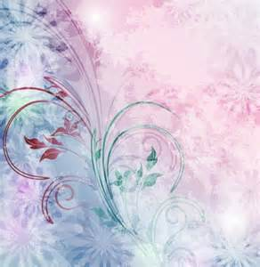 soft pink blue abstract floral vector background welovesolo