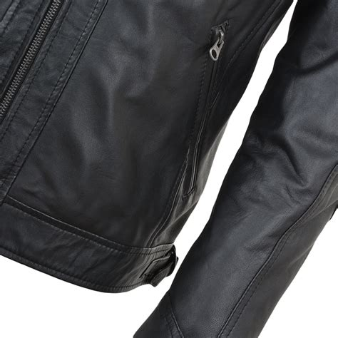 mens black leather motorcycle jacket mens leather biker jacket black bronx mens leather jackets