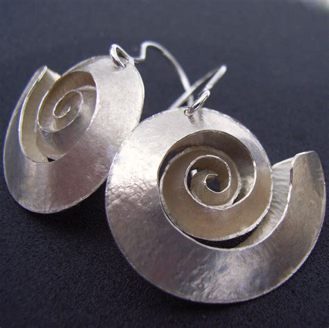 Which Jewelry Style Moderncontemporary Or Traditionalethnic 2 by Swirl Silver Earrings Contemporary Earrings By