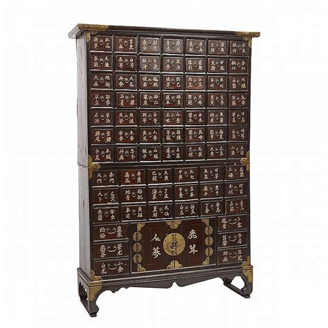 traditional herb cabinet rosewood half of 20
