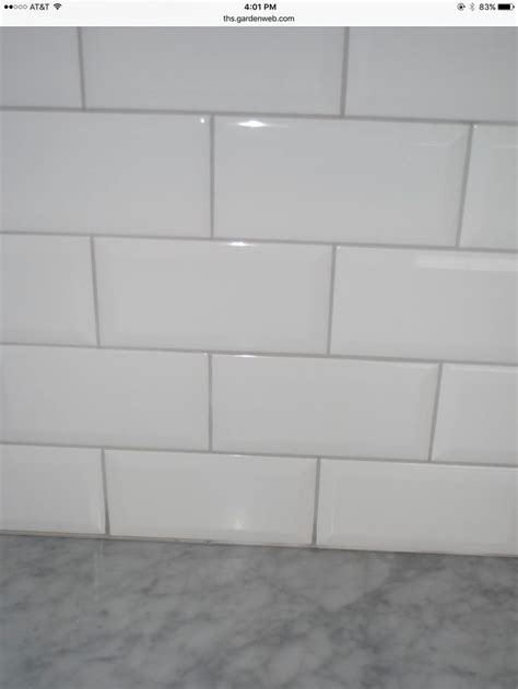 white subway tile with light gray grout subway tile with a oyster gray grout for our home