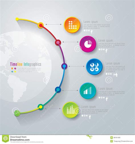 Timeline Infographics Design Template Royalty Free Stock Projects Research Pinterest Timeline Design Template