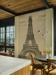 eiffel tower mural contemporary dining room janof eiffel tower wall mural decal paris wall decal murals