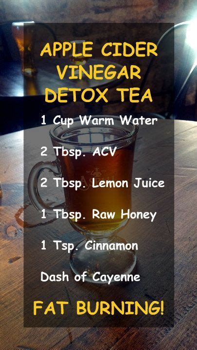 Apple Cider Vinegar And Detox For Kolonopin by Apple Cider Vinegar Detox Tea 1 Cup Warm Water 2 Tbsp
