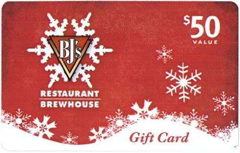 Bj Restaurant Gift Card - bj s restaurant holiday gift card 50 shop giftcards
