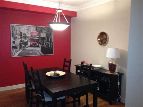 red dining room bam  condo en  red bedroom