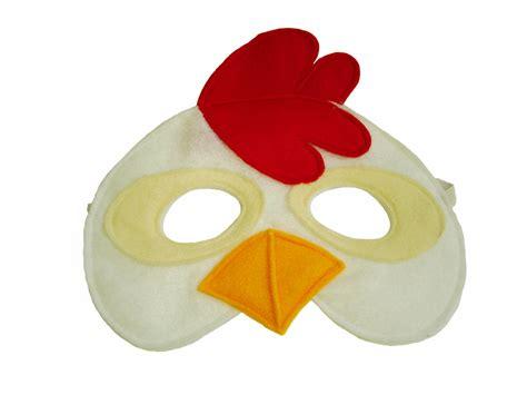 printable chicken mask children s chicken farm animal felt mask