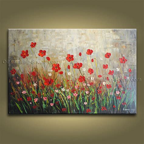 Handmade Paintings - handmade beautiful contemporary wall floral painting