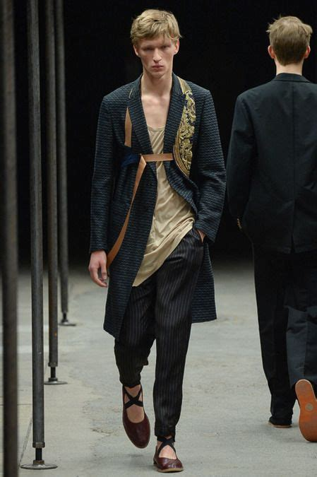 Menswear Chic At Dries Noten Gets A Twist By Wearing The Necktie Like A Harness Its A Snap To Capture The Spirit Without Breaking The Bank Fashiontribes Fashion by 1000 Ideas About Ss 15 On Fall Winter 2014