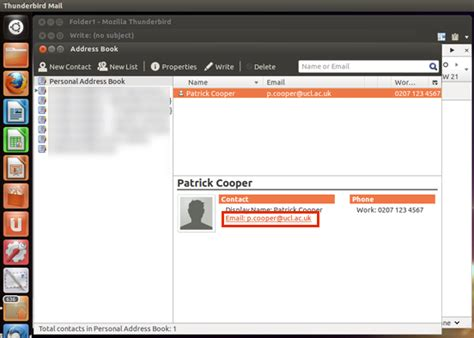 Find By Their Email Address Find A Contact In Thunderbird