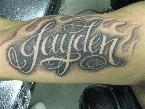 tattoo ideas for the name jayden jayden tattoo that reads jayden on arm creepstattoo