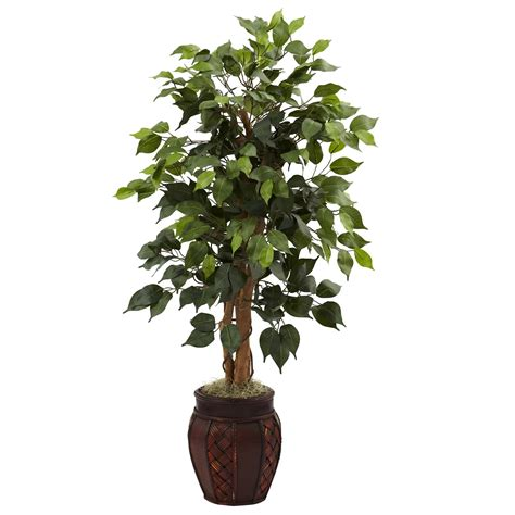 decorative trees for home 44 inch artificial ficus tree in decorative planter 5929