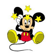 mickey triste clipart