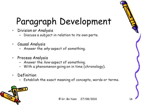 definition pattern of paragraph development write like a professional ppt download
