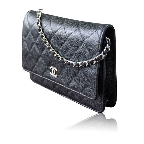 chanel woc wallet on chain black caviar leather crossbody