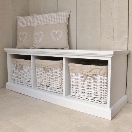 storage bench seat with baskets white 3 basket storage bench bliss and bloom ltd