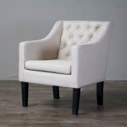 Upholstered Club Chair by Baxton Studio Brittany Upholstered Button Tufted Modern