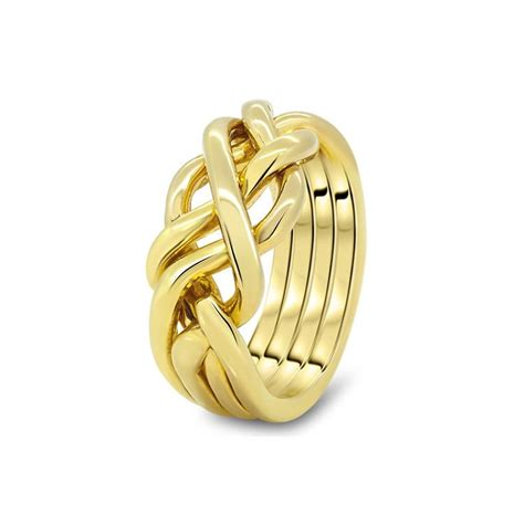 mens gold 4hb m puzzle rings creations
