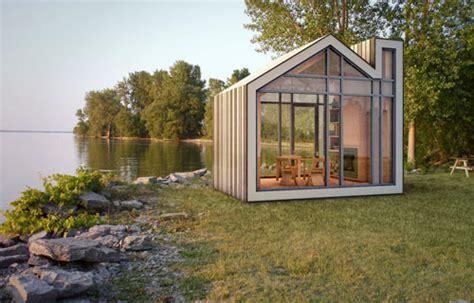 Small Cabin Architecture by The Prefab Modern Bunkie Sleeping Cabin Design Milk