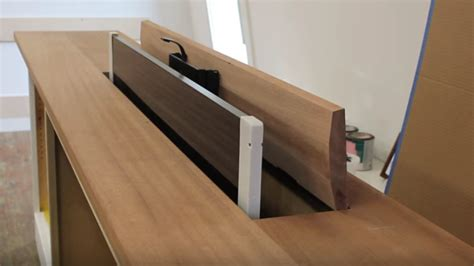 how to build a tv lift cabinet make a pop up tv