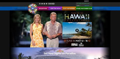 Wheel Of Fortune Take Me To Hawaii Sweepstakes - wheel of fortune take me to hawaii sweepstakes