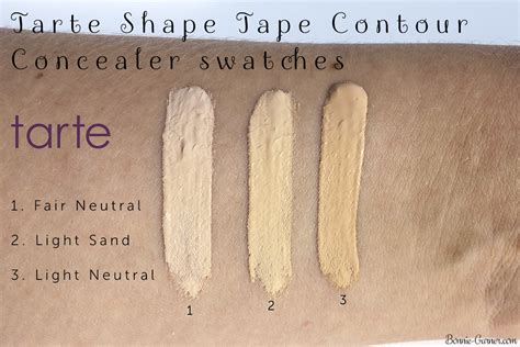 light sand tarte concealer tarte shape tape contour concealer my review bonnie