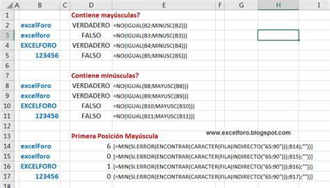 preguntas con mayuscula encontrar may 250 sculas y min 250 sculas en excel excel foro