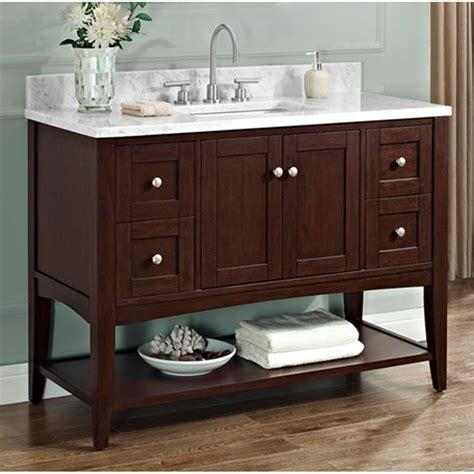 "Fairmont Designs Shaker Americana 48"" Vanity   Open Shelf"