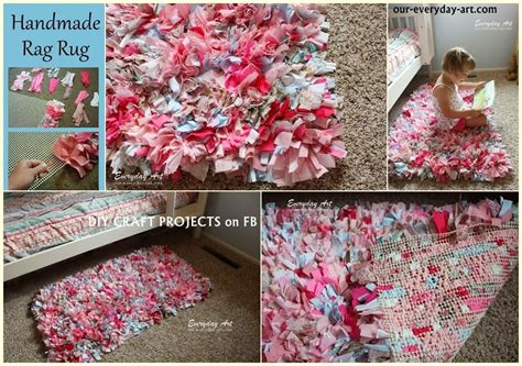 Handmade Projects - diy handmade rag rug tutorial diy craft projects