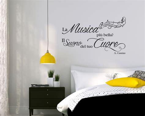 musica da letto adesivo frase musica la musica pi 217 il suono