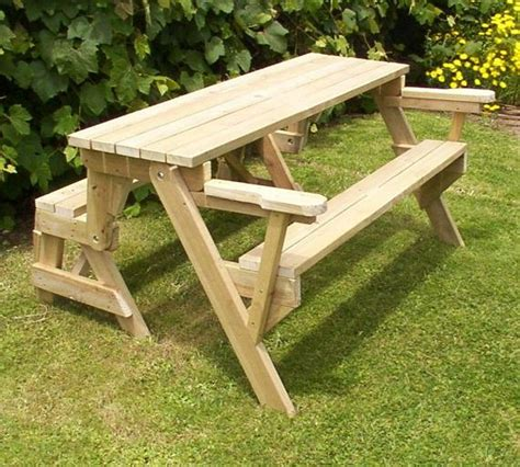 piece folding picnic table woodworking plans etsy