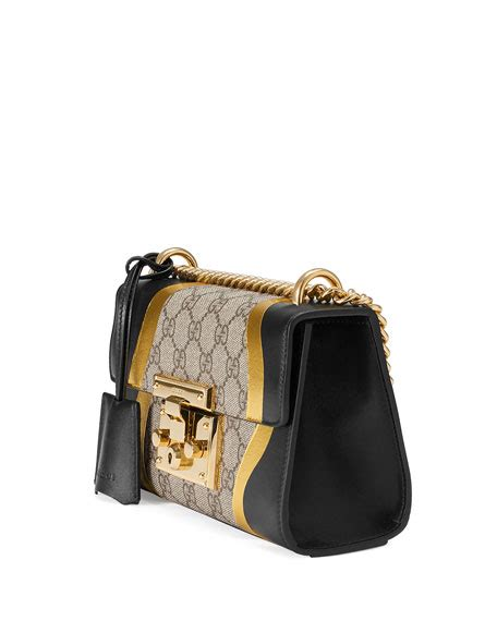 black pattern handbags gucci small padlock chain shoulder bag black pattern