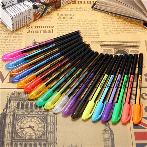 Color Ink Pen 18 pcs color gel pen set coloring book ink pens