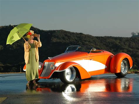 deco car wallpaper deco rides boattail speedster by chip foose with