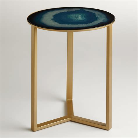 accent side tables sapphire harbin accent table world market