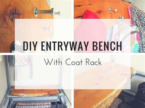 diy coat rack bench diy entryway bench with coat rack projects simplified