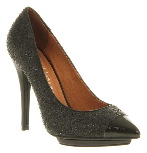 bullet for my shoes womens jeffrey cbell bullet 2 high heel black black toe