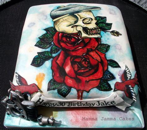 tattoo gun birthday cake foodista this tattoo cake by mamma jamma cakes