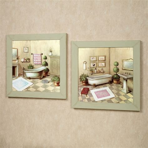 Wall Hangings For Bathroom Garran Bathroom Washtub Framed Wall Set
