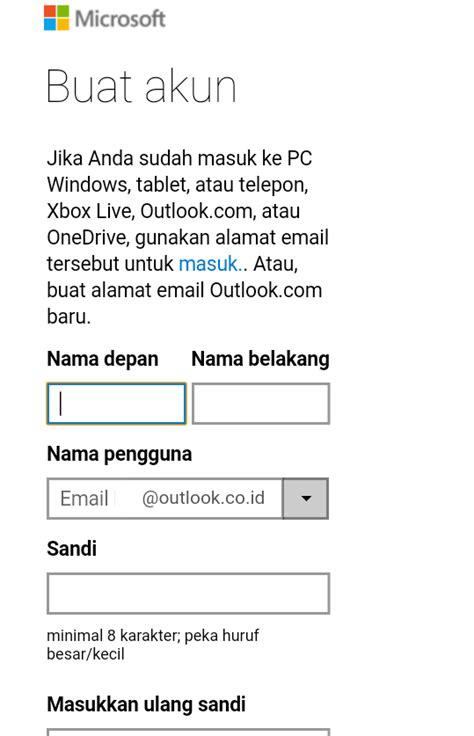 membuat akun email lewat hp cara mudah buat akun email outlook lewat hp bukugue com