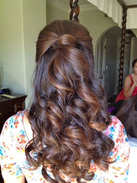 bridesmaid half up half hairstyle i m as free as my hair wedding my hair