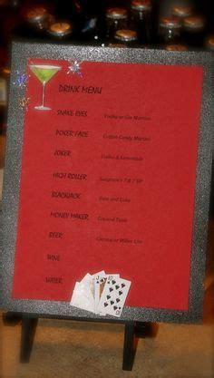 cocktail themed names casino night food menu nick s 30th pinterest food