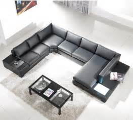 Black Modern Sectional Sofa Tosh Lombardy Black Leather Sectional Sofa Modern Sofas Other Metro By Dcg Stores