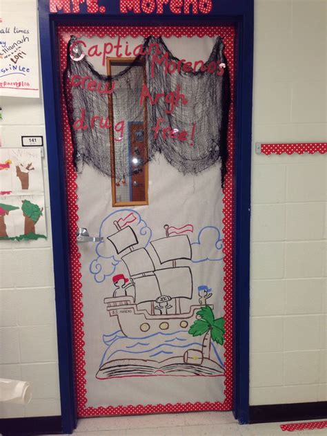 pirate themed door decorations pirate theme door for ribbon week ribbon week